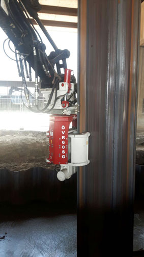 OMS Side Grip Vibratory Hammer Pile Driver For Sale