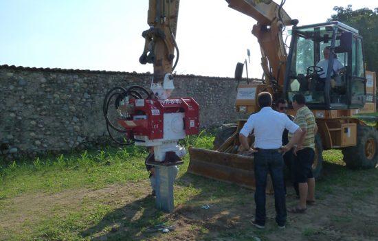 Excavator Mounted Pile Driver OVR 40 S- Güneş Paneli Yapımı