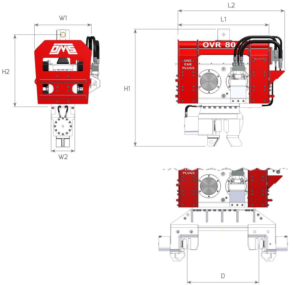 Ekskavatöre Monteli Vibro Çakıcı - Teknik Özellikler